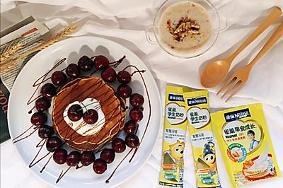 雀巢学生早餐:香蕉松饼