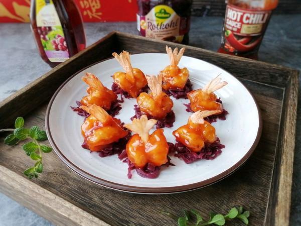 酸酸甜甜就是它,糖醋凤尾虾的做法