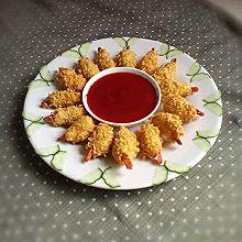 小吃~黄金虾#小虾创意料理#