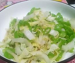 螺丝椒炒白菜心的做法