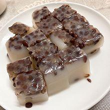 白凉粉红豆糕