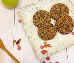拍饼子,烙锅边---紫薯换个法子吃的做法