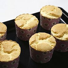 原味戚风纸杯蛋糕(烤箱做纸杯蛋糕)