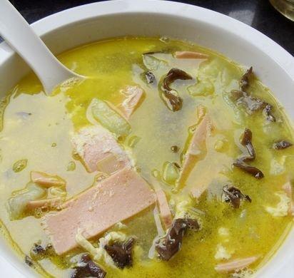 丝瓜火腿肠蛋汤