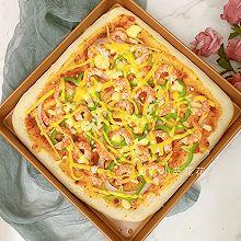 鲜虾披萨 #夏天夜宵High起来!#