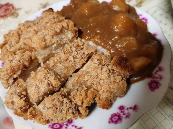超快手咖喱鸡排饭(酸甜口适合小朋友)的做法