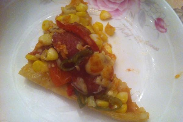 玉米比萨肠pizza的做法