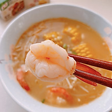 基围虾玉米浓汤