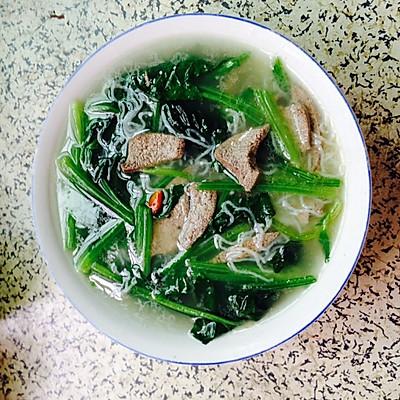 猪肝菠菜汤粉