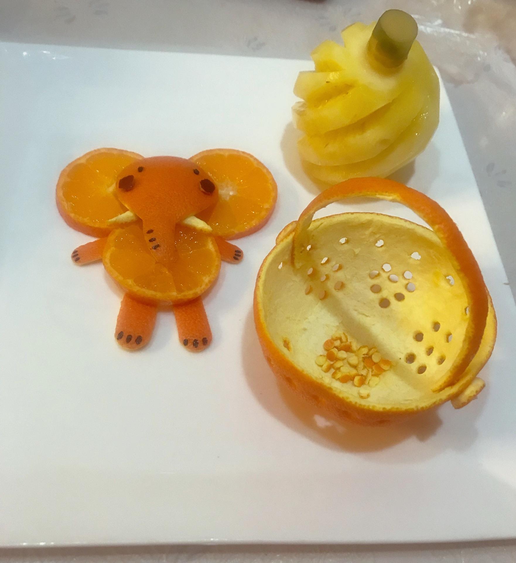 创意水果拼盘的做法图解2