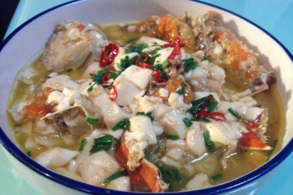 豆腐蟹煲的做法