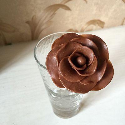 巧克力花的做法 步骤4