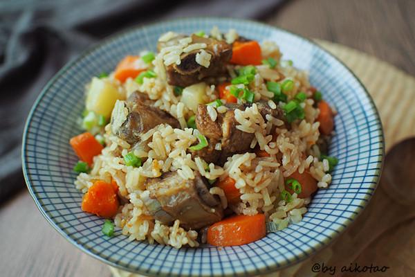 排骨焖饭的做法
