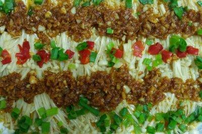 微波炉烤金针菇(简单又卫生的下酒菜)