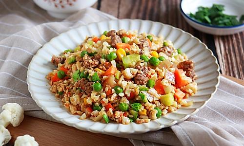 健康低卡家常菜——无米炒饭的做法
