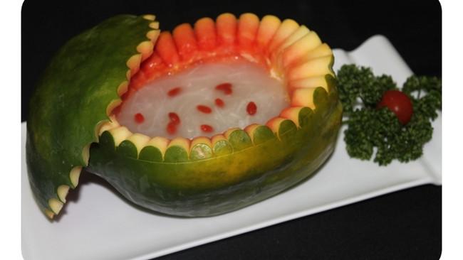 赛燕窝木瓜盅——春季美食的做法