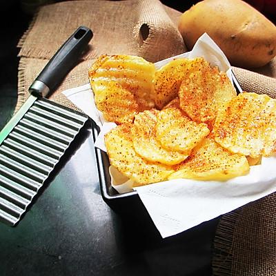香辣波纹薯片