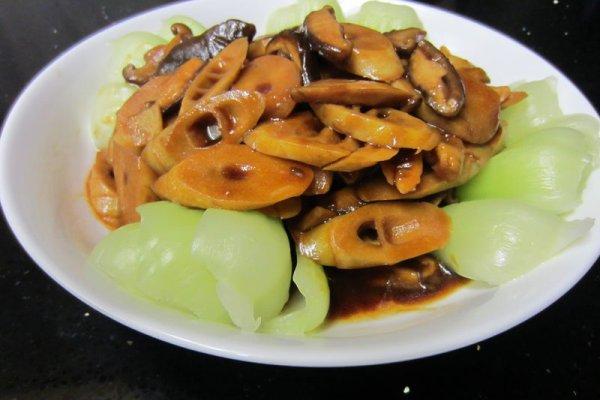 香菇烩竹笋的做法