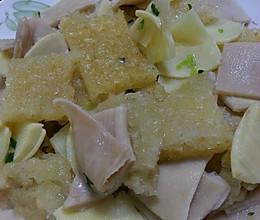 肉皮冬笋炒羊肚的做法