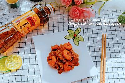 哏都人最爱的虾仁嘟面筋#金龙鱼外婆香小榨菜籽油 最强家乡菜#