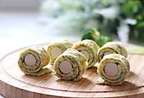 #硬核菜谱制作人# 西兰花蛋饼卷香肠的做法