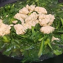鸡肉小丸子茼蒿汤
