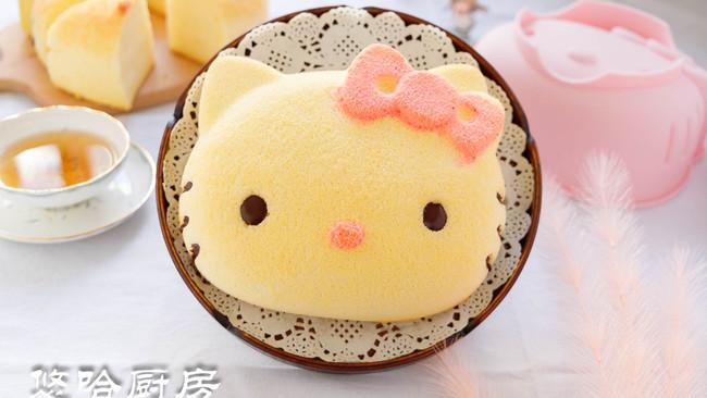 Hello Kitty戚风蛋糕的做法