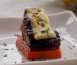 焗五花肉佐奶酪 --- #百吉福芝士片创意早餐#的做法