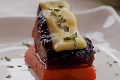 焗五花肉佐奶酪 --- #百吉福芝士片创意早餐#