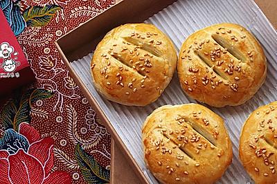 老婆饼 - 南瓜籽油版本的酥皮#寻人启事#