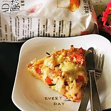 #爱好组-高筋#番茄洋葱金枪鱼披萨