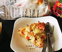 #爱好组-高筋#番茄洋葱金枪鱼披萨的做法