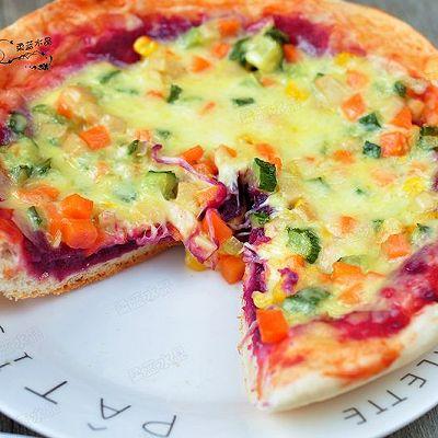 紫薯双味披萨【九阳铁釜饭煲】