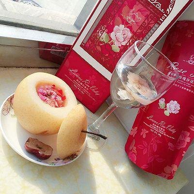 冰糖雪梨玫瑰盅