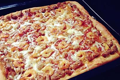 北极虾牛肉粒披萨