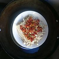大喜大牛肉粉调味料试用之剁椒金针菇的做法图解4