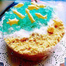 蓝色酸奶海洋慕斯