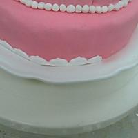 HOLLETKITY粉色双层翻糖蛋糕#九阳烘焙剧场#的做法图解43