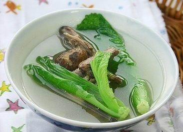 冬菇鹌鹑汤浸芥菜仔