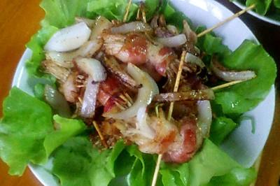 培根金根菇卷