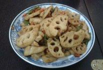 素-辣椒炒莲藕的做法