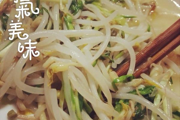 豆芽炒蒜苗的做法