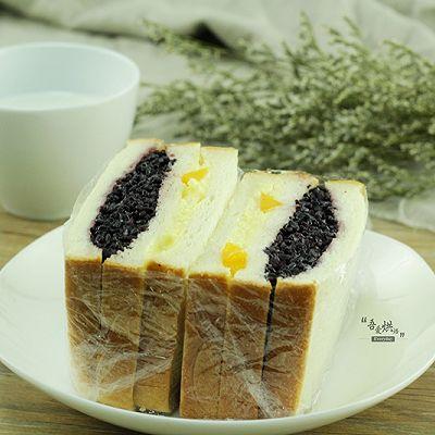 黑米芒果奶酪吐司的做法 步骤9