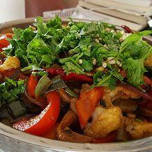 烧烤味干锅排骨(无技术含量)