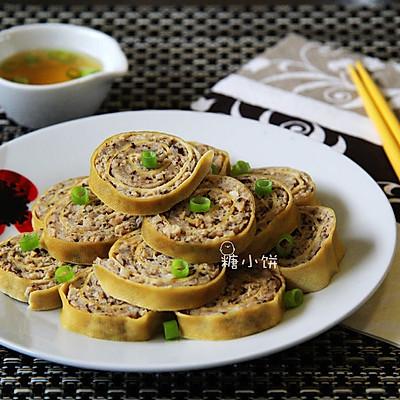 【豆腐皮香菇肉卷】瘦肉版清蒸肉卷