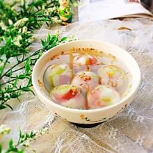 #精品菜谱挑战赛#炫彩芝麻汤圆