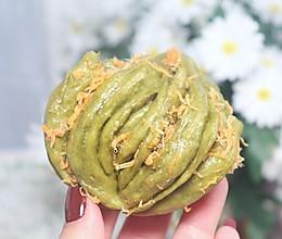 肉松菠菜奶香花卷,口感与颜值并存的做法