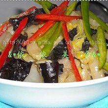 素炒黑木耳大白菜