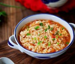#憋在家里吃什么#番茄金针菇烩饭的做法