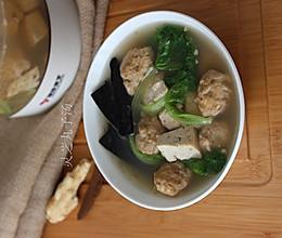 灵芝丸子汤的做法